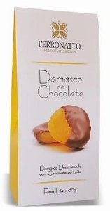 Damasco com Chocolate ao Leite 80g Ferronatto