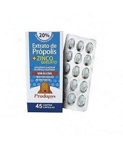 Própolis + Zinco Quelato 45 cápsulas Prodapys