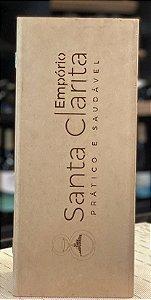 Caixa para Vinho Baú Personalizada 33x11x9