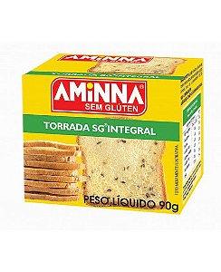 Torrada sem Glúten Integral 90g Aminna