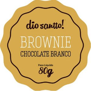 Brownie Chocolate Branco 70g Dio Santo