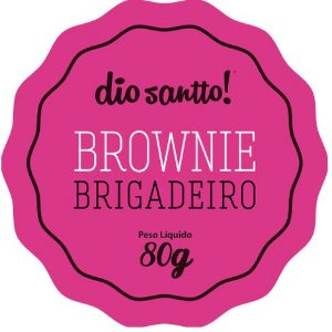Brownie Brigadeiro 70g Dio Santo