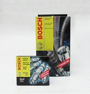Kit Cabos E Vela Original Bosch Gol Cht 1992 93 94 Gasolina