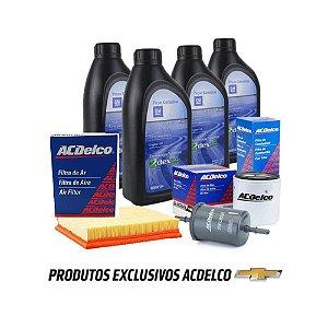 Kit Troca De Oleo 5w30 GM 4L 100% Sintetico E Filtros Onix e Novo Prisma 2013 ate 2019