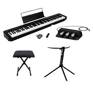 PIANO CASIO CDS-150 + PEDAL + BANQUETA + ESTANTE STAY