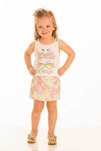 Conjunto Feminino Regata e shorts saia-10253