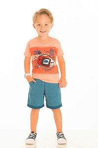 Conjunto Masculino Camiseta e Bermuda Moletinho-20247
