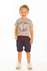 Conjunto Masculino Camiseta e Bermuda Moletinho-20245