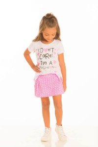 Conjunto Feminino Camiseta e Shorts Saia-30223