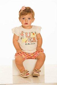 Conjunto Bebê Menina Blusa e Shorts (RK7075)
