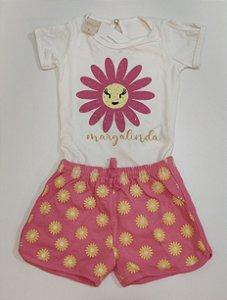 Conjunto Feminino Blusa e Shorts-7415