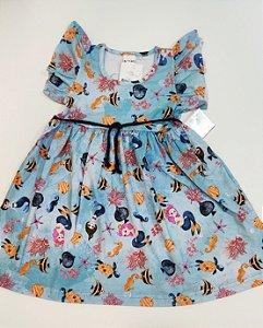 Vestido Estampado com cinto-7637