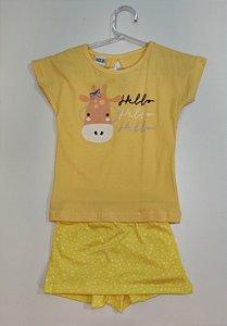 Conjunto Feminino Camiseta e shorts saia-7600