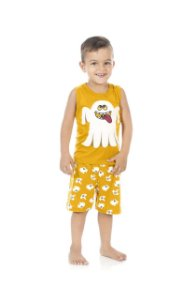 Pijama Masculino Regata e Shorts (Brilha no Escuro)-9032