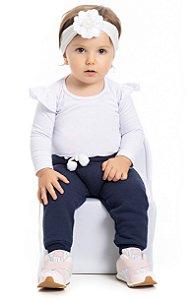 Calça de moletom Bebê menina (PM4109)