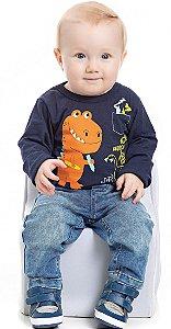 Camiseta em Meia Malha Bebê Masculino (PM4160)