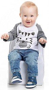 Camiseta em Meia Malha Bebê Masculino (PM4161)