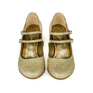 Sapato Arlequim - Dourado