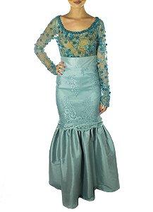 Blusa Tifany Bordada - Azul