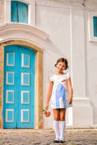 Vestido Capelinha - Off White