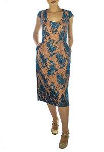 Vestido Audrey - Laranja