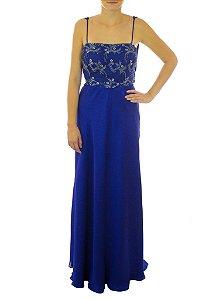 Vestido Bolinha de Gude Alcinha - Azul