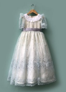 Vestido Menina Doce - Azul