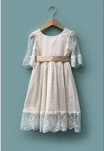 Vestido Florista - Off White