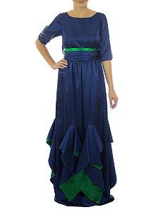 Vestido Dona do Circo - Azul