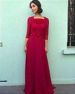 Vestido Drapê - Vermelho