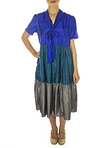 Vestido Hanami - Azul
