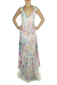 Vestido Jardim de Versalhes - Rosa