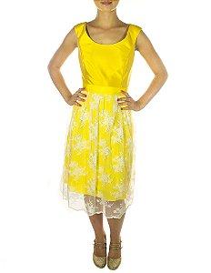 Vestido Liberdade Sem Guipir - Amarelo