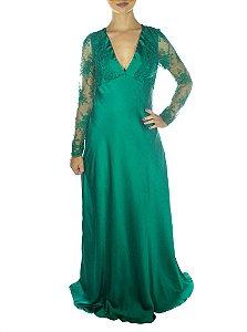 Vestido Princesa Merida Manga Longa - Verde