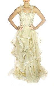 Vestido Sininho - Dourado