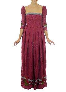 Vestido Sol Nascente - Marsala