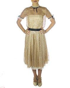 Vestido Terceira Bailarina - Dourado