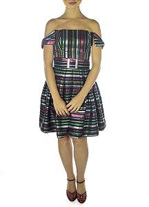 Vestido Tsuru - Preto