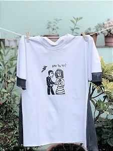 T-shirt Cordel Com Tela - Branco