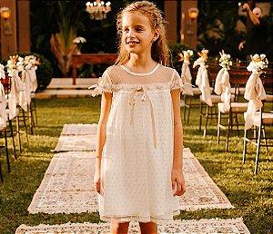 Vestido Andorinha Poá - Rosê