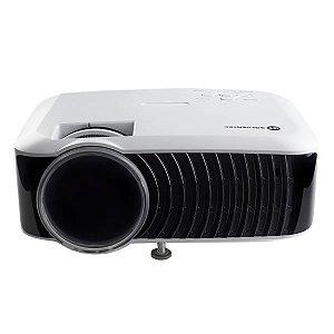 Projetor Goldentec GT2000 HD 2000 Lumens com HDMI, AV, VGA, USB e SD Card