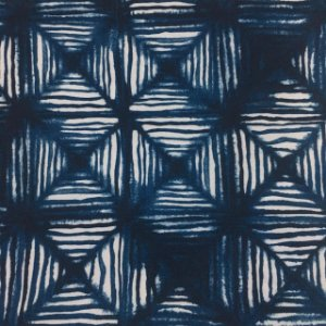 Tecido Garden Juquey Geo Azul - Coleção Bahia