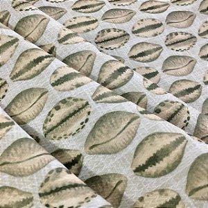 Tecido Garden Juquey Conchas - Coleção Bahia