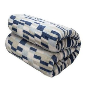 Cobertor Loft Casal -  Camesa - Quadriculado Azul