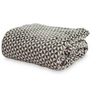 Cobertor Loft Casal  - Camesa - Triangulo Verde Musgo