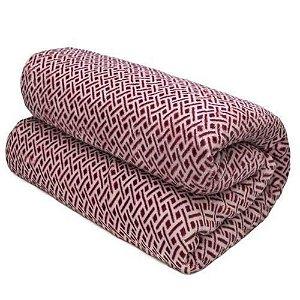 Cobertor Loft Casal  - Camesa -  Grade vermelho