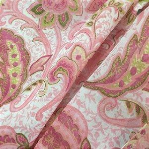 Voil Estampado 2,80m - Arabescos Rose