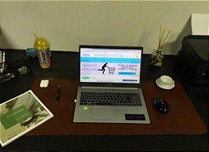 Desk Pad Couro Vegano Marrom Chocolate - 90cm X 40cm
