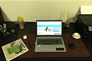 Desk Pad Couro Vegano Marrom Tabaco - 90cm X 40cm