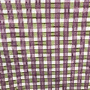 Tecido Cotton Estampado 100% Algodão - Xadrez Lilás/Verde